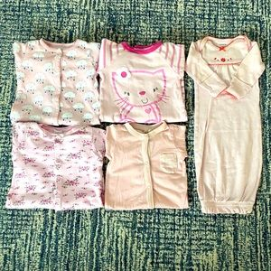 "CARTER'S++ Baby Girl 5pc ""Pink"" Sleeptime Bundle"